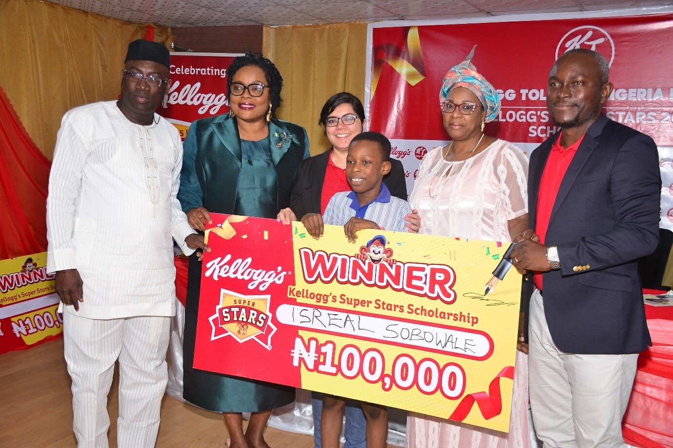 Kellogg's Hosts Winners Of Its Super Stars Scholarship In Lagos