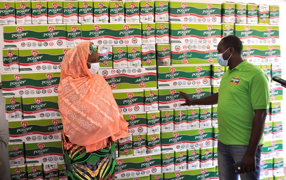POWER OIL DONATES PRODUCTS TO SUPPORT FIGHT AGAINST HUNGER AMIDST COVID-19.