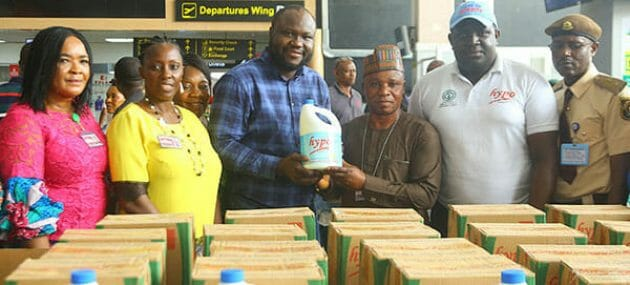 Hypo partners FAAN, donates 100 cartons of products to prevent coronavirus