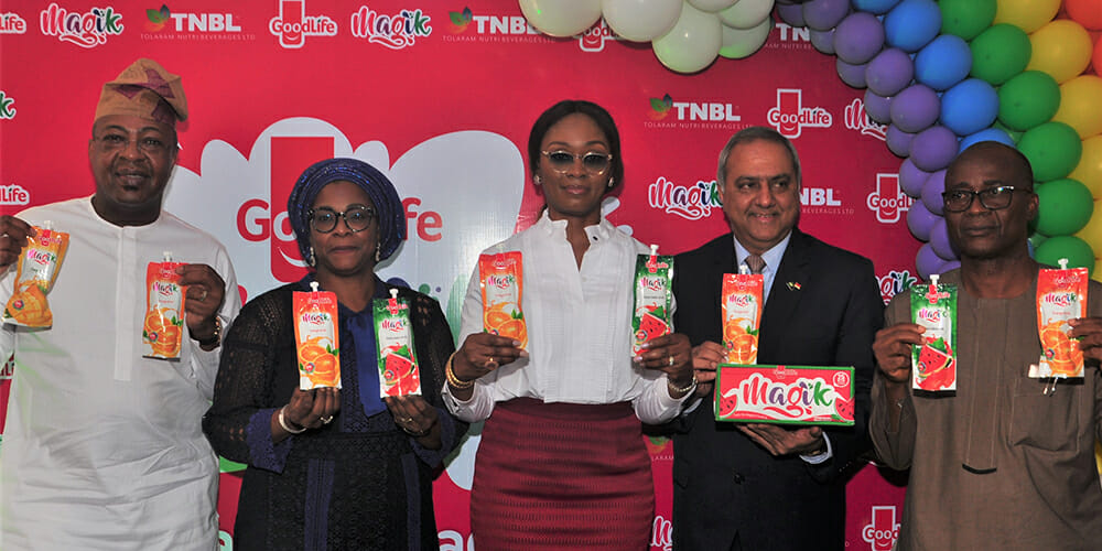 "Tolaram Group Enters The Nigerian Beverage Market With The Launch Of ""Goodlife Magik Fruit Drink""."